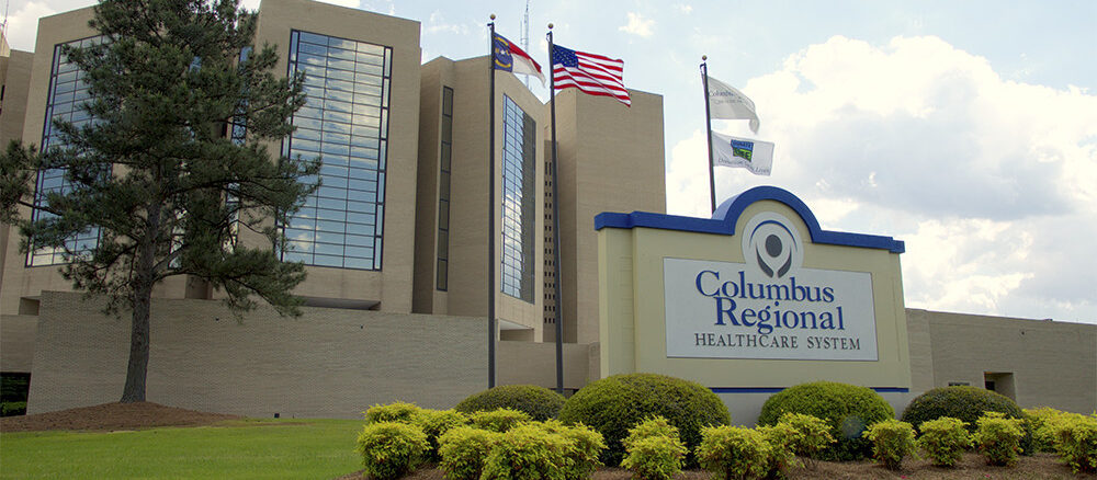 Columbus Regional Health Center is sponsoring the #maskupcolumbus campaign.