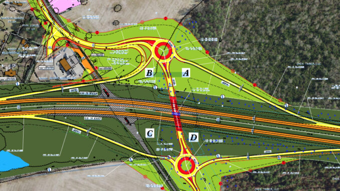 The intersection at Old Boardman/MAcedonia church Roads and U.s. 76 will be converted to an interchange to improve safety and traffic flow. (DOT graphic)
