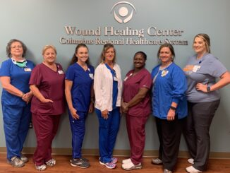 CRHS Wound Healing Center staff: Dianne Smith, Connie Ellis, Beverly Buck, Allison Ray, Jackie Jenrette, Geena Williams and Ashley Coleman.