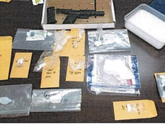 The joint operation turned up $6,000 in cash, cocaine, methamphetamine, and a handgun (WPD photo)