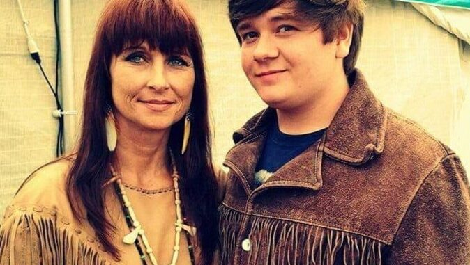Thomas Powell and his aunt, Richia Grayhawk (submitted)