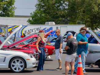 Seventy entries joined in Saturday's show, along with some cars that were just entered for display.