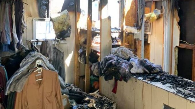 The clothing pantry at Southeastern Carolina Crossroads was a complete loss. (submitted)