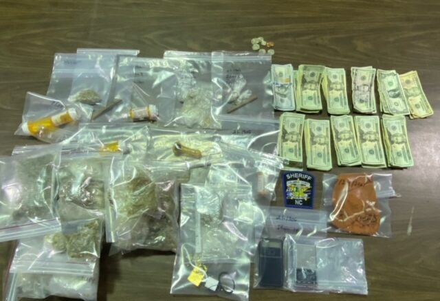 Some of the contraband seized during Friday's checking station. (CCSO photo)