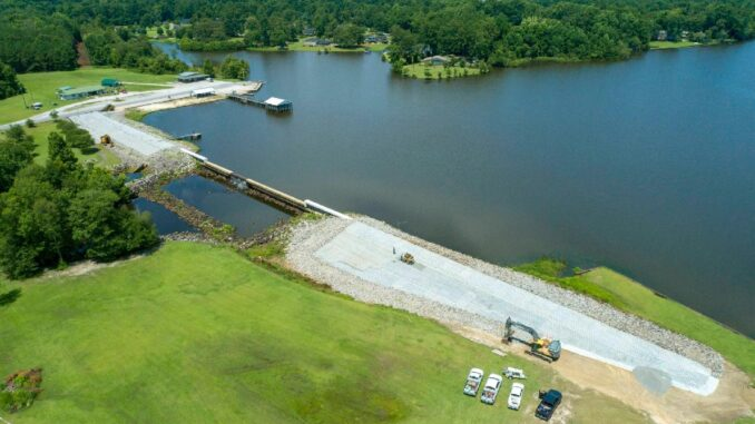 Stabilization of the Lake Tabor dam should be complete by Sept. 30. (Submitted photo)