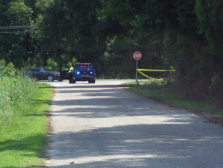 """Broadway Road was blocked Saturday morning while investigators secured what was referred to as """"a large crime scene"""" in Chadbourn."""