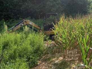 Authorities recovered two pieces of heavy equipment stolen here in Johnston County. (CCSO photo)