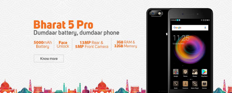 Micromax Bharat 5 Pro Launched with 5000mAH Battery at Rs.7,999 only
