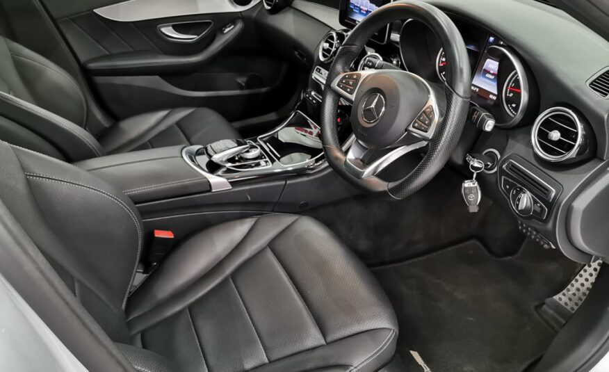 2017 MERCEDES BENZ C200 AMG LINE AT (SILVER)