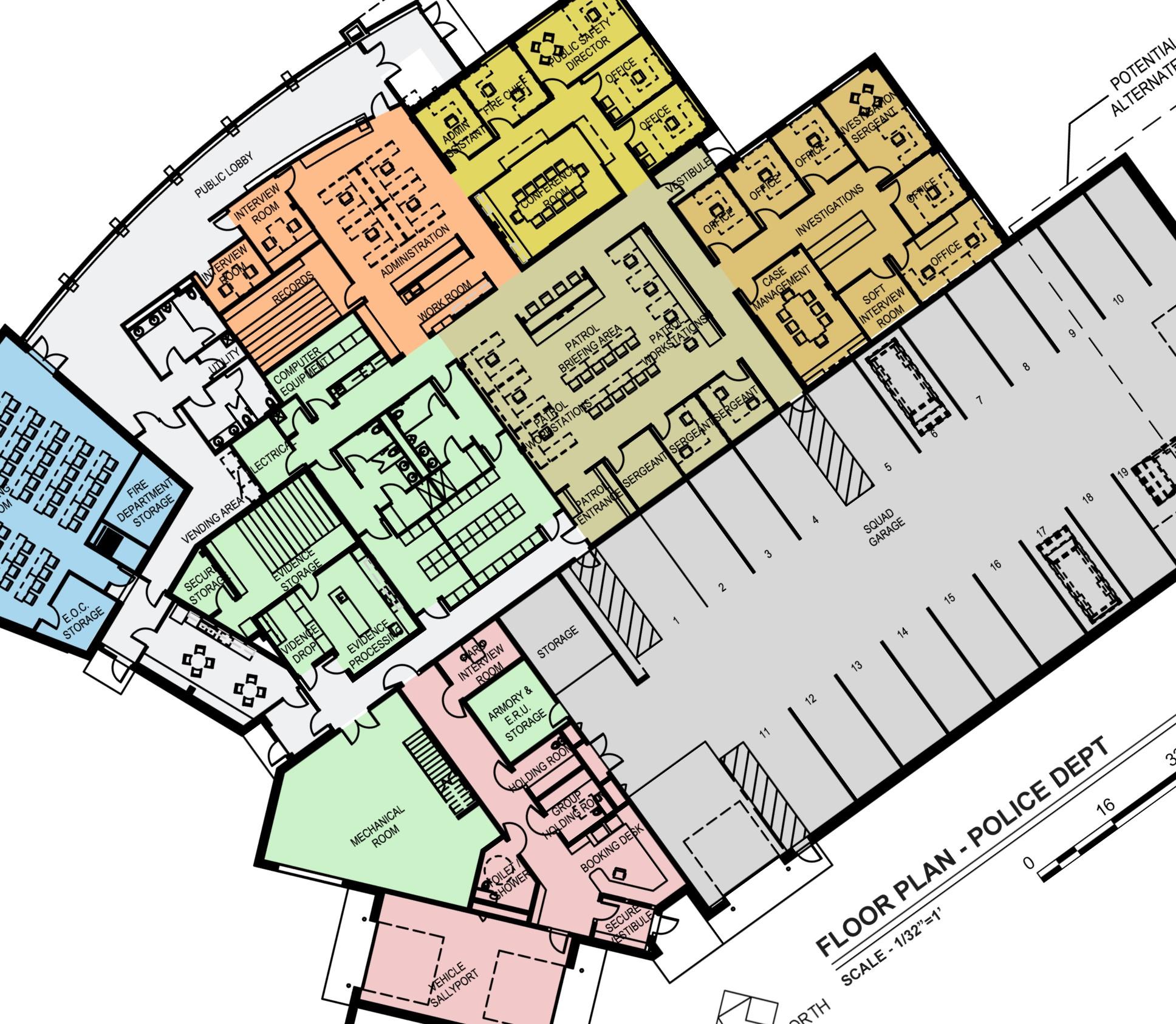 Northfield MN Police department floor plan