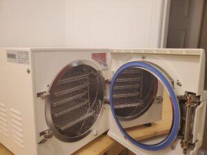 autoclave close up open