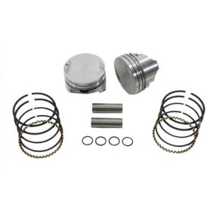harley davidson motorcycle Sportster Keith Black flat top pistons, piston rings, pins and lock rings