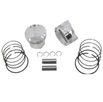 83ci 1340cc Harley Davidson Wiseco forged pistons with piston rings, pins and snap rings