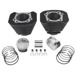 Harley Davidson Sportster black cylinders with pistons and gaskets