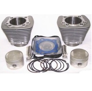 Harley Davidson Sportster silver cylinders with pistons and gaskets