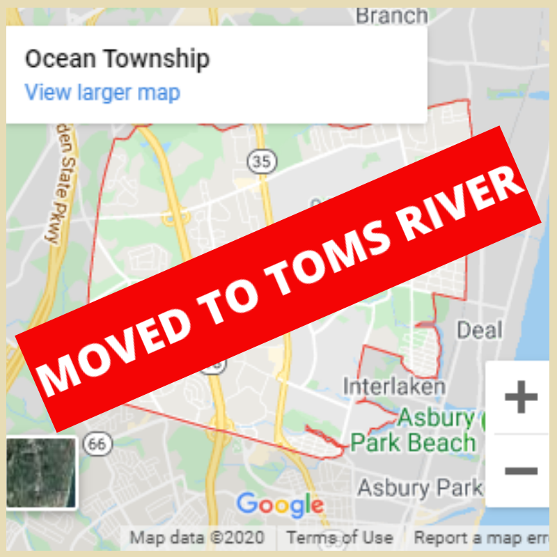 Location Moved To Toms River