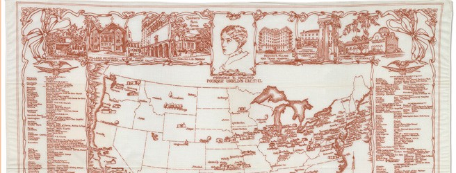 Map of places and things named for Frances Willard