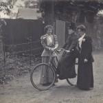 Willard on her bicycle, Gladys