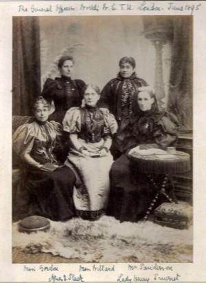 Frances Willard and WCTU officers, 1895