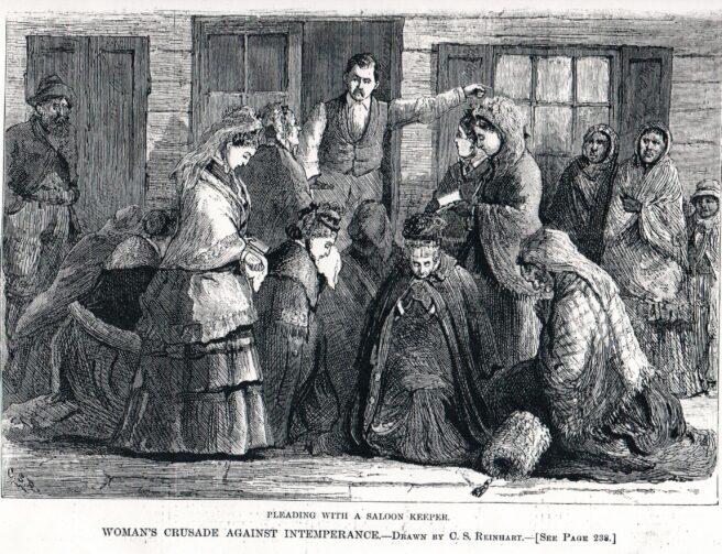 Saloonkeeper and crusaders
