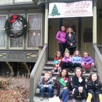 Holiday Open House, Dec 2014, with local girl scout volunteers