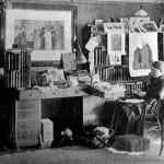 Frances Willard, working in the den of Rest Cottage / Willard House