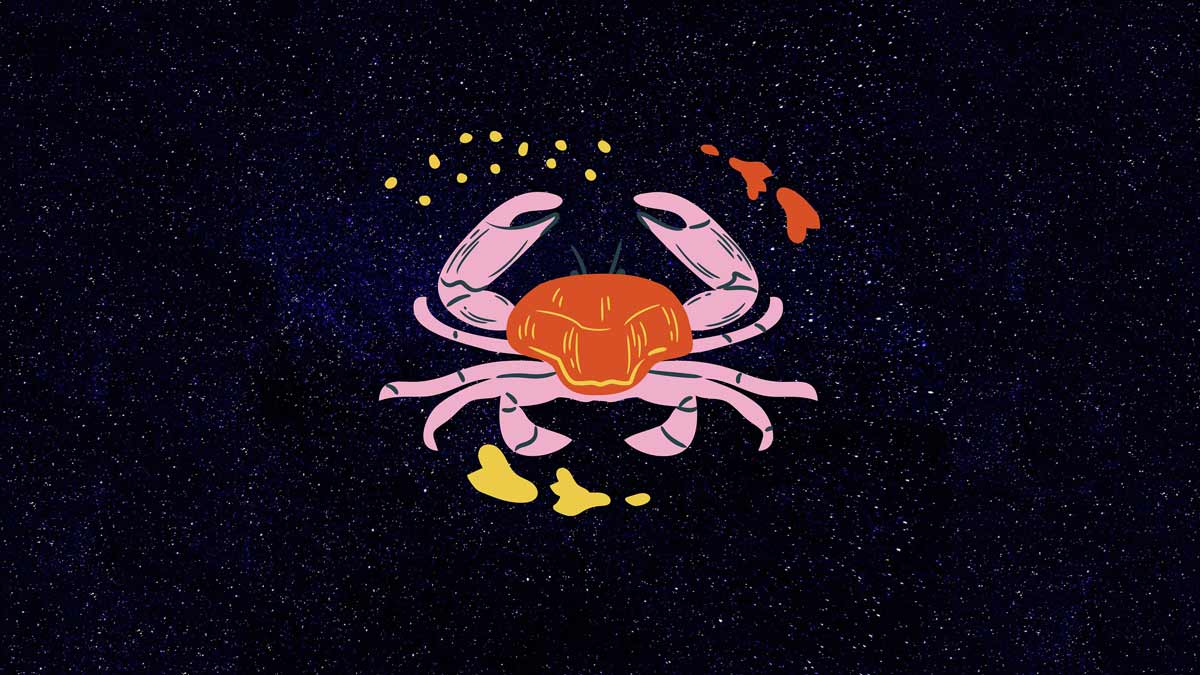 Cancer crab against the night sky - Chicago Reiki