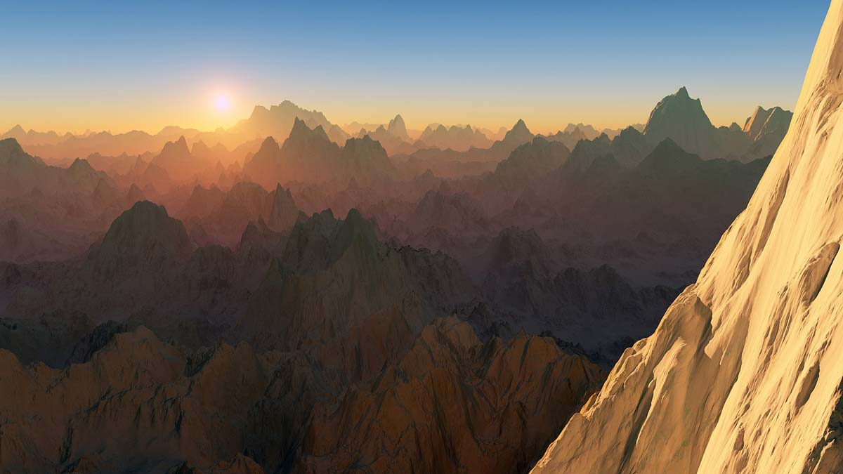 Universal Life Force Energy - Image of the sun rising over the mountains
