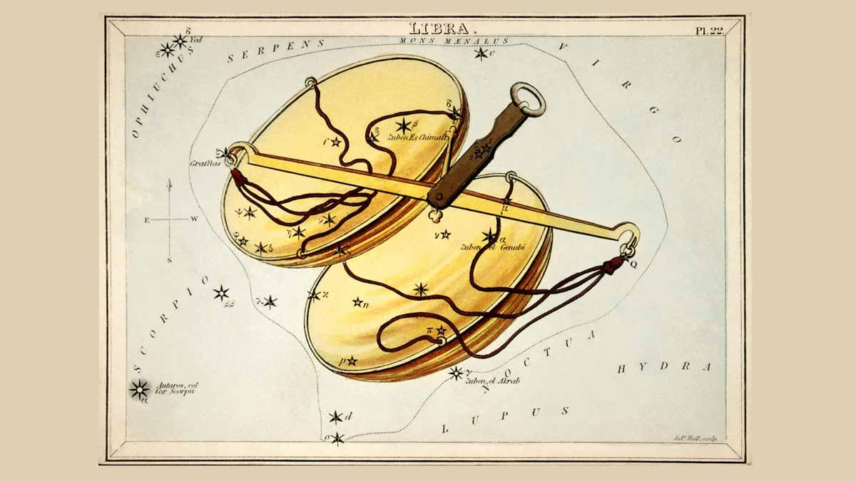 Jerry Mikutis - Chicago Reiki and Astrology- Libra Season 2021 - Illustration of Libra Scales