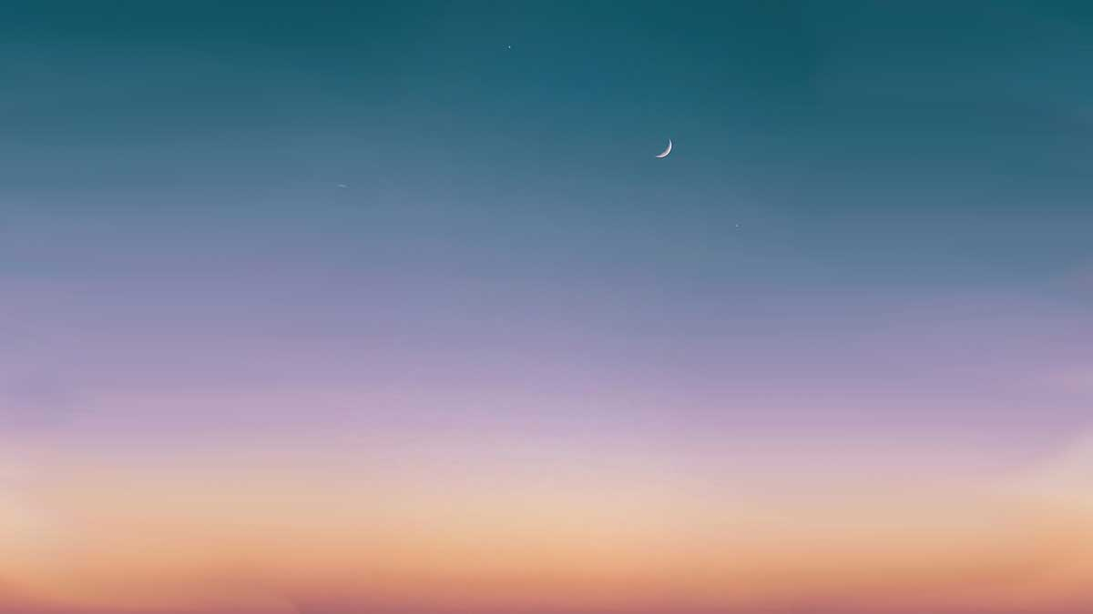 Jerry Mikutis - Image of new moon in the sky - Chicago Reiki and Astrology Meditation - New Moon in Libra
