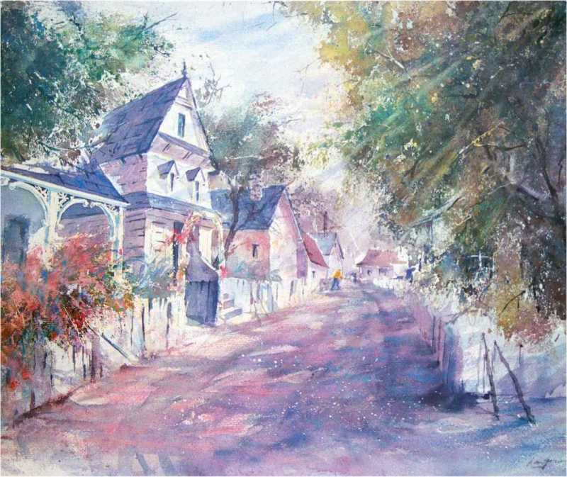 Afternoon Stroll by Len Garon