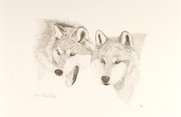 Timber Wolves II by Martin May