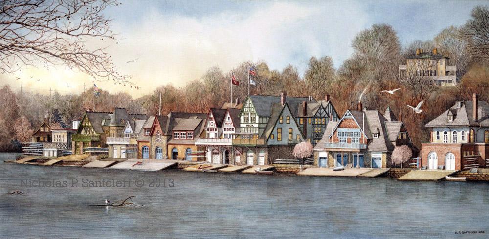 Boathouse Row 7 by Nick Santoleri