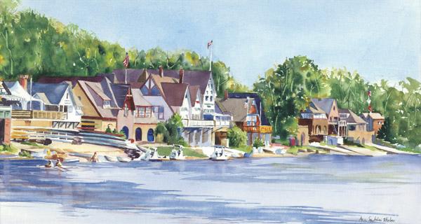 Boathouse Row by Anne Santoleri Whalon