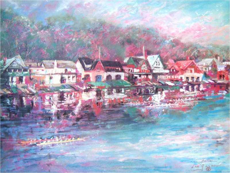 The Spirit of Boathouse Row by Len Garon