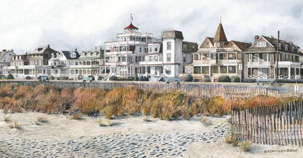 Beach Drive (Cape May) by Nick Santoleri