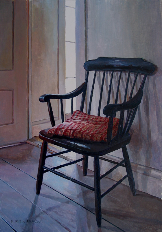 Chair with the Plaid Pillow by Heather Peacock