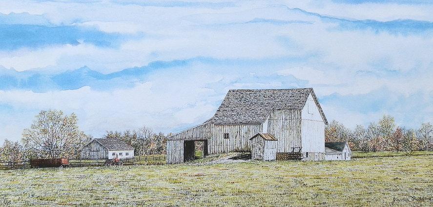 Heritage Farm offset print by James Redding