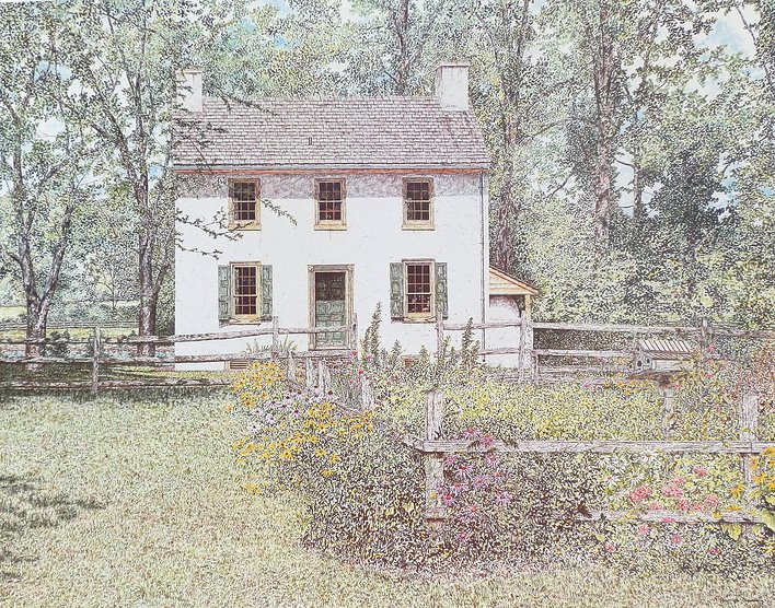 Hibbs House Summertime offset print by James Redding