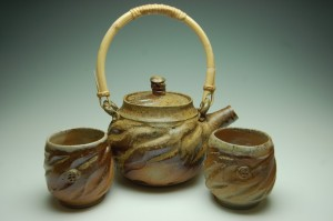 Pottery by Jeremy Sims tea set.
