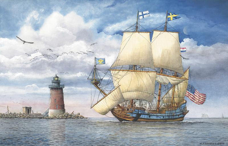 Kalmar Nyckel Under Sail by Nick Santoleri