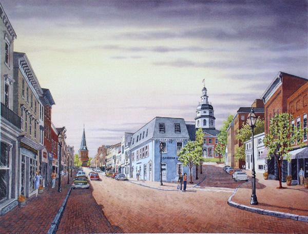 Main Street Annapolis by William Dawson