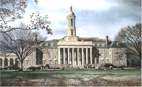 Penn State Old Main by Nick Santoleri