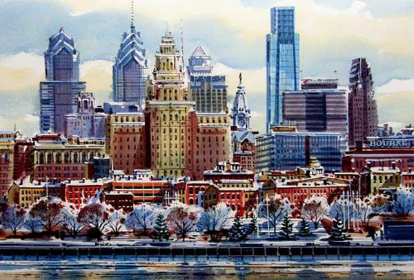 Penn's Landing II Giclee by William Ressler