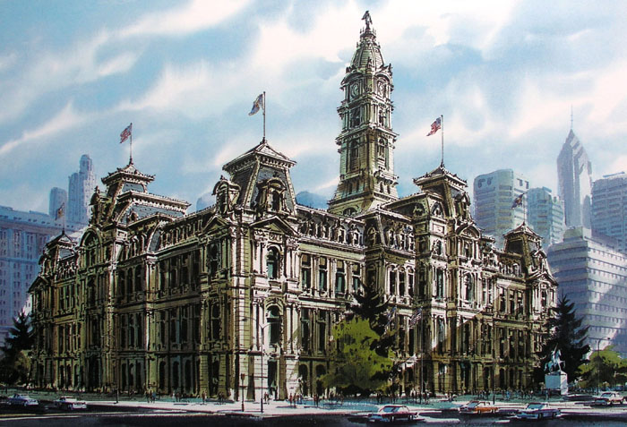 Philadelphia City Hall Giclee by William Ressler