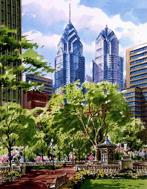 Rittenhouse Square Giclee by William Ressler