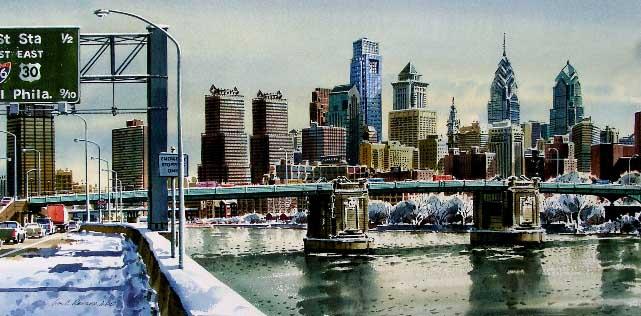 South Street Bridge Giclee by William Ressler