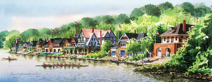 Spring Scullers Giclee by William Ressler