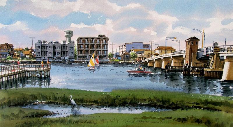 Stone Harbor Skyline by William Ressler