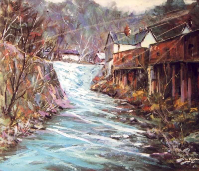 Straub's Mill  by Len Garon